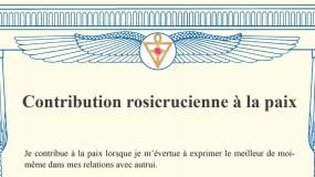 Contribution rosicrucienne à la paix