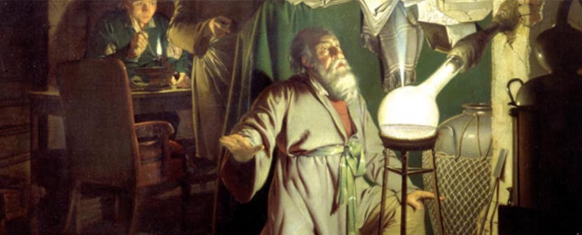 Un alchimiste dans son laboratoire